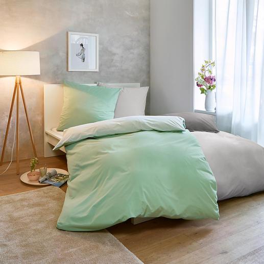 Sommer-Bettwäsche, 140 x 200 cm Nur ein Hauch auf der Haut: sommerleichte, bi-color Wendebettwäsche aus reiner Baumwolle.