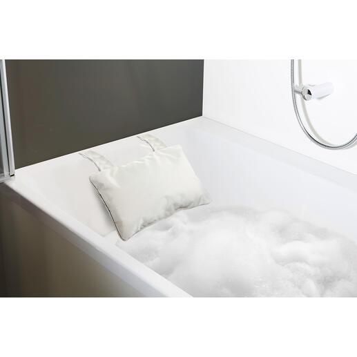 Für eingebaute Badewannen wählen Sie das Kissen mit Saugnäpfen.