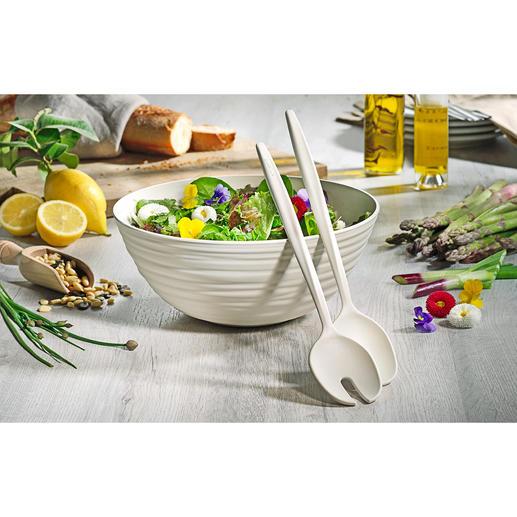 Salat-Set Tierra Handgemacht wie feinste Töpferware – aber aus recycelten PET-Flaschen.