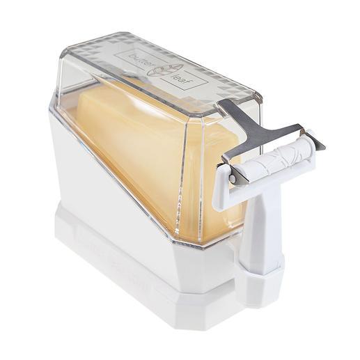 Clever: Beim Servieren wird der Deckel zum Sockel, der das Butterstück genau in die richtige Position zum Abhobeln bringt.