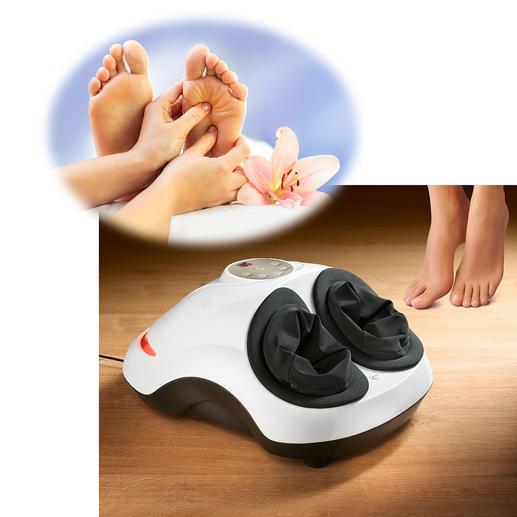 Fuß-Reflexzonen-Massagegerät Nur selten kombiniert: Shiatsu- und Air-Massage sowie Wärmefunktion in einem professionellen Gerät.