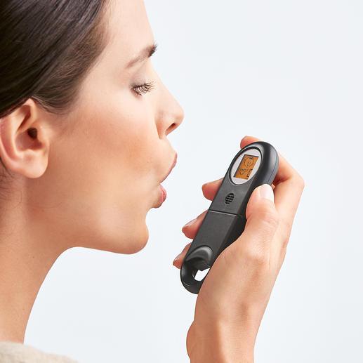 Mundgeruch-Schnelltester Frischer Atem? Innerhalb weniger Sekunden haben Sie Gewissheit.
