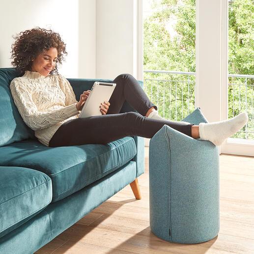 Ideal auch um zur Muße-, Fernseh- oder Lesestunde entspannt die Beine hochzulegen.
