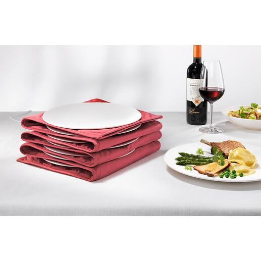 Tellerwärmer Mit heißer Essfläche und handwarmen Rändern. Jetzt für bis zu 12 große Pasta- und Menüteller.