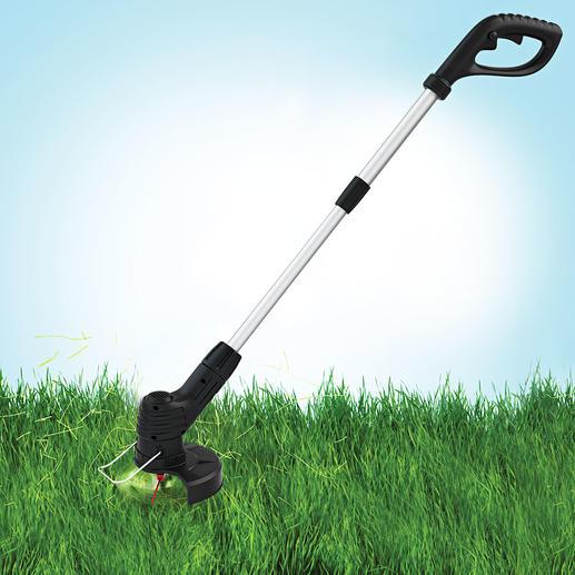 Hammersmith® Akku-Trimmer Bionic Ruck-zuck: Rasen getrimmt und Kanten geschnitten. Ohne gerissenen Schneidfaden.