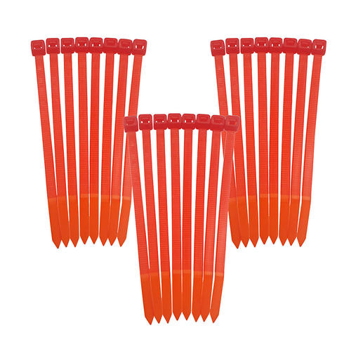 Funktioniert mit herkömmlichen Kabelbindern (statt störanfälliger Fadenspule).