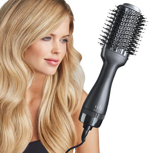 4-in-1-Warmluftbürste Das bessere Haartool trocknet, bürstet, glättet und stylt in einem Zug.