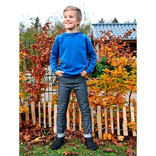 Am Tag eine coole Jeans für Mädchen und Jungs.