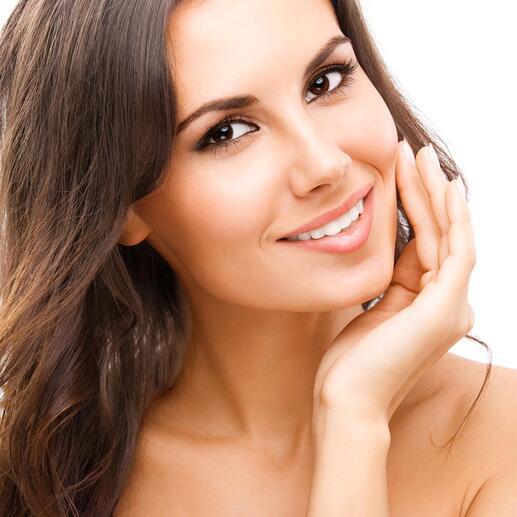 Ein optischer Aufheller lässt Ihre Zähne augenblicklich weißer scheinen.