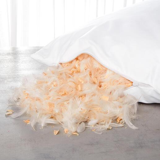 Mit dem Nachfüllpack (separat erhältlich) können Sie das Kissenvolumen nach Wunsch verstärken – oder den Zirbenduft nach einiger Zeit auffrischen.