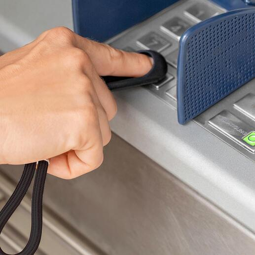 SafetyTouch® Schlüsselanhänger Nie mehr ohne: Schützt Ihre Finger vor Viren + Bakterien + Schmutz.