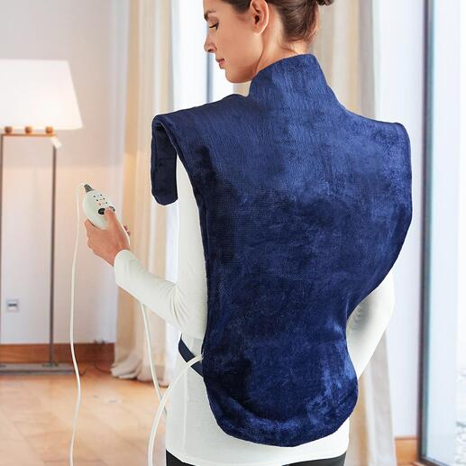 Heiz- und Massagekissen Deluxe Wärmt von der Hüfte bis hoch in den Nacken und schmiegt sich perfekt um die Schultern.