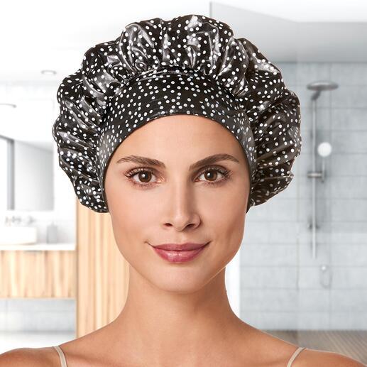 TIARA® Duschhaube Hält zuverlässig trocken, schont die Frisur und hinterlässt keine Abdrücke.
