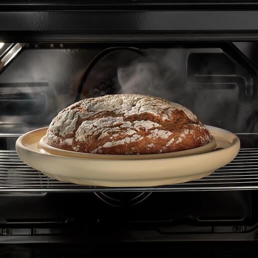 CeraFlam®Backplatte Bread&Cake Ihr selbstgebackenes Brot: rundum gleichmäßig gebräunt, mit köstlich knuspriger Kruste.