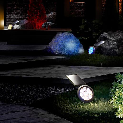 Solar-Gartenstrahler mit Farbwechsler