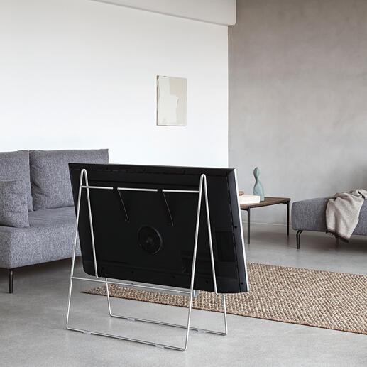 TV-StänderCarry Wie auf einer Staffelei fixiert, wird Ihr Flachbildschirm zum stylishen Kunstobjekt.