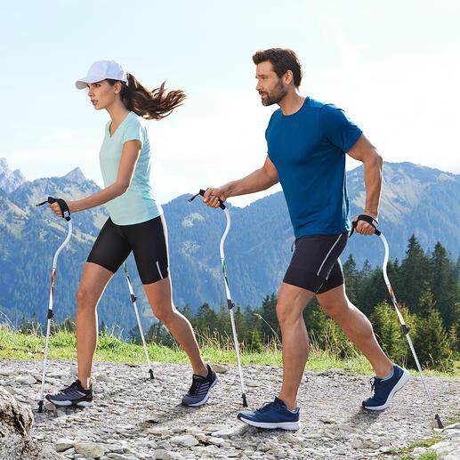 ErgocurveWalkingstöcke Laufstöcke neuester Generation: Unterstützten den natürlichen Bewegungsablauf beim Walken, Wandern, Gehen, Spazieren, ...