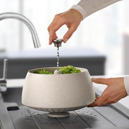 GreenTool Salatschleuder Stylish, funktionell und umweltfreundlich: die Salatschleuder aus nachhaltigem Biokomposit. Im attraktiven Nordic-Design von Eva Solo.