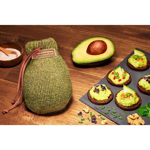AvocadoSock® Natürliche Shetlandwolle lässt die Früchte in nur 24 - 48 Stunden verzehrfertig reifen. Gleichmäßig und ohne Druckstellen.