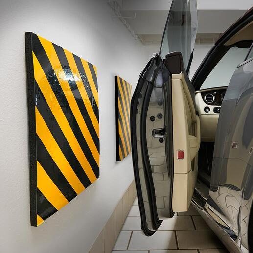 Garagenwand-Polster, 2er-Set Schluss mit zerschrammten Autotüren. Selbstklebende Garagenwand-Polster schützen vor Lackschäden.