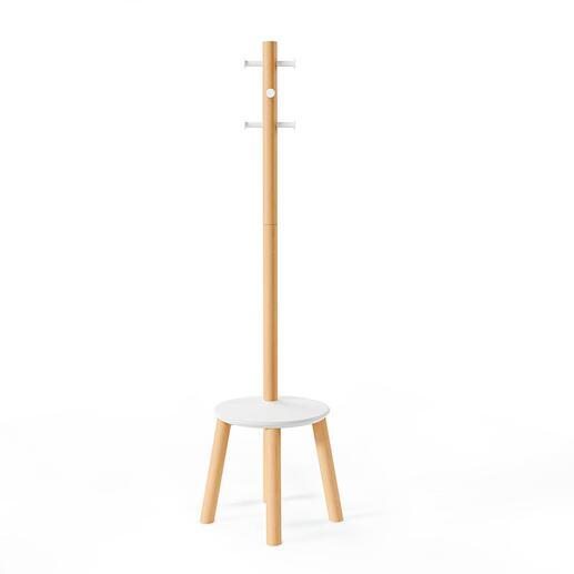 Modernes, schlankes Design aus Massivholz und Metall.