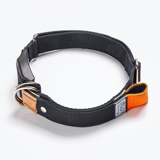 Die Leine ist direkt in das Halsband integriert –so haben Sie beide Hände frei wenn Ihr Hund frei läuft.