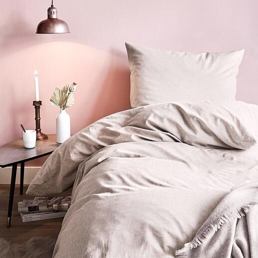 Baumwoll-Hanf-Bettwäsche, 140 x 200 cm Seidenweich, temperaturausgleichend und robust: Ganzjahres-Bettwäsche mit der Traumfaser Hanf.