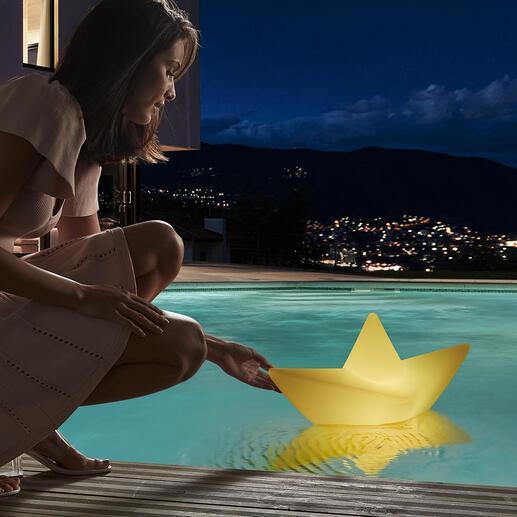 TheBoatLamp™ Einst aus Papier – jetzt wetterfest als XL-Leuchte für drinnen, draußen, dimmbar und schwimmbar.