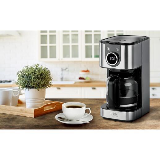 Design-Kaffeemaschine Selection mit Glas- oder Thermoskanne Alles, was Sie von einer perfekten Filter-Kaffeemaschine erwarten. Zum sehr guten Preis. Design- und Produktqualität von Caso.
