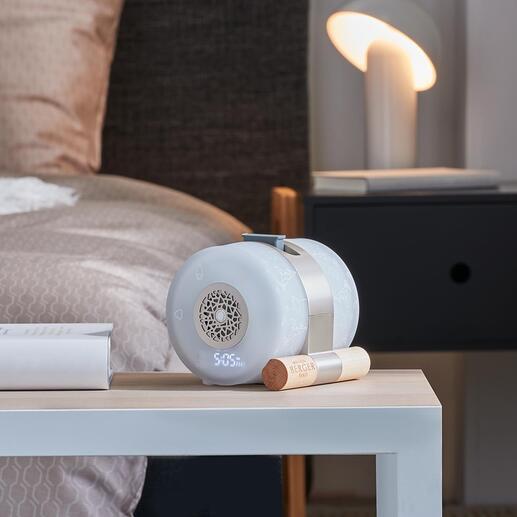 Wellness-Duftwecker Verströmt nach Wunsch anregende oder belebende Duftkompositionen: elektrisch lautlos, ohne Wasser und Dampf.