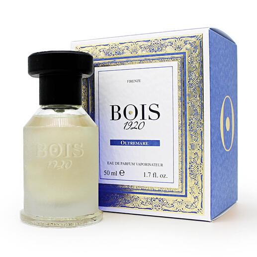 Bois 1920 Oltremare, Eau de Parfum, 50 ml Unvergleichlich frisch, vibrierend, beschwingt: Oltremare duftet wie ein Urlaub am Mittelmeer.