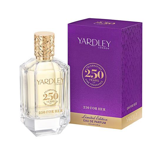 Der Jubiläums-Duft von Yardley/London. Vom Meister-Parfumeur mit 250 Jahren Know-how. Limited Edition für Damen und Herren.