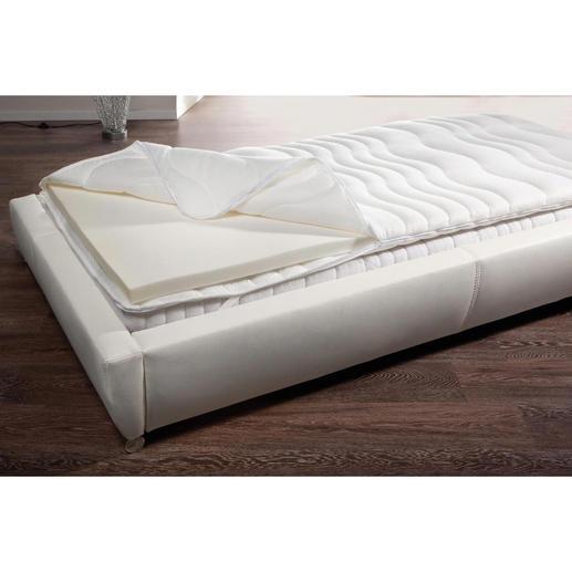 Visco-Matratzenauflage - Sie genießen wohltuende Druckentlastung. Und schützen Ihre teure Matratze vor Verschmutzung, Keim- und Milbenbefall.