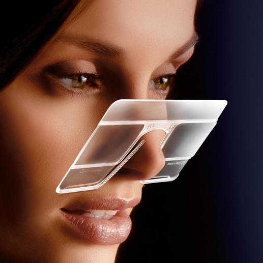 eyeCard®, 2er-Set - Ihre handlichste Lupe – im Kreditkartenformat. Mit 2,5facher Vergrößerung. Und beide Hände frei.