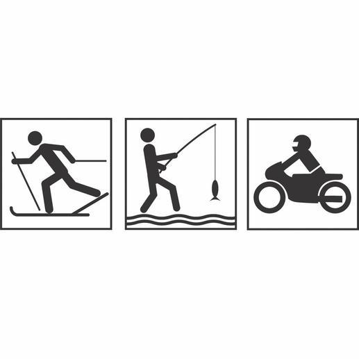 Ideal beim Skilaufen, Angeln, Motorrad-Fahren, …