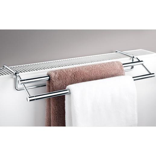 Handtuchtrockner für Heizkörper - Passt auf nahezu jede Heizung. Kein Bohren, kein Schrauben, keine Montage. Ideal für Bad und Küche.