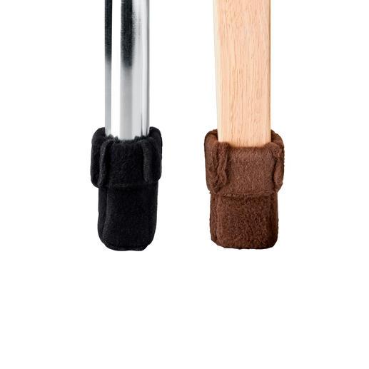 """Die """"Mini-Wukies"""" schmiegen sich perfekt an zierliche Stuhlbeine bis 6 cm Umfang."""