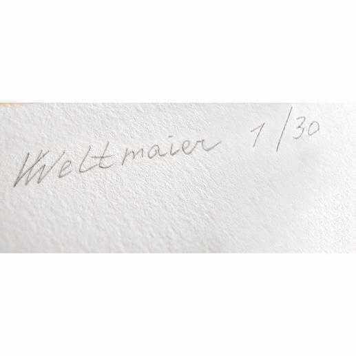 Signatur der Künstlerin.