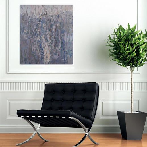 Die Vielschichtigkeit der Farbverläufe und Lichtreflexe bringt der Künstler in unnachahmlicher Weise auf die Leinwand.