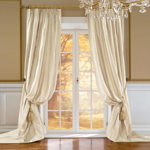 Vorhang Palmera - 1 Stück Kostbare, reine Doupion-Seide: extra breit gewebt, keine störende Ansatznaht.