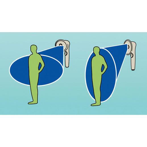 Einfach durch Drehen des ovalen Duschkopfs wählen Sie einen breiteren Strahl oder die optimale Berieselung des gesamten Körpers.