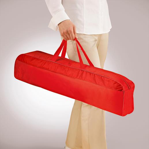 In der mitgelieferten, 66 cm langen Tragetasche transportieren Sie Ihr Moskitonetz ganz bequem.