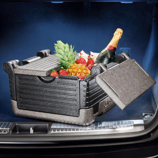 Klappbare Isolierbox, 25 oder 39 l Lästige Kühlakkus überflüssig. Isolieren 3 x besser als übliche Kühltüten.