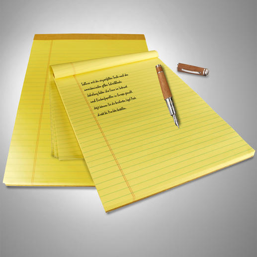 Original U.S. Legal Pads, 9 Blocks à 100 Blatt - Mindestens 4 Vorteile. Und doch so schwer zu finden.