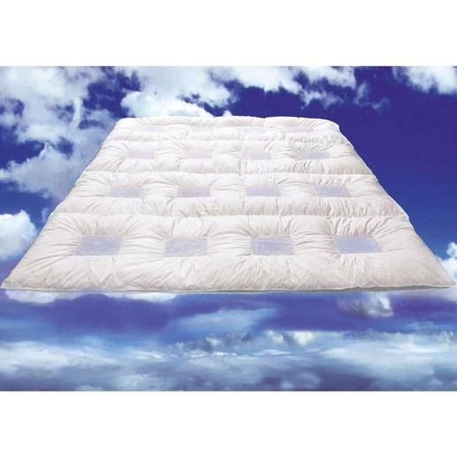 ClimaBalance Daunendecke - Gänsedaunen und Temperatur ausgleichende Luftschleusen für Ihren erholsamen Schlaf.