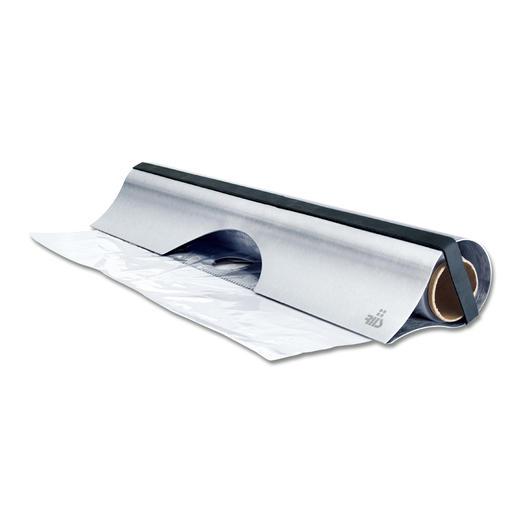 Edelstahlabroller - Eleganter Edelstahl-Abroller für Alu- und Klarsichtfolie.