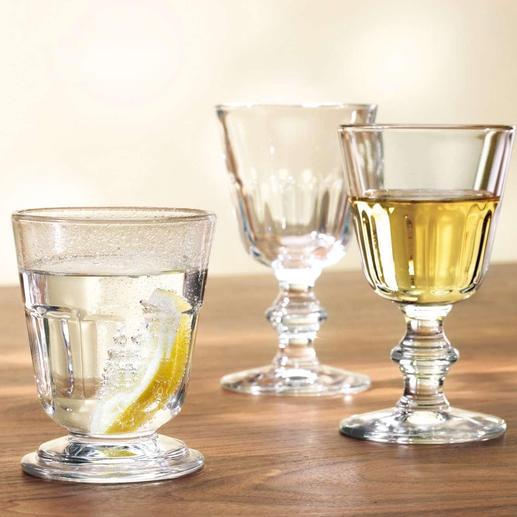 perigord_glaeser_6er_set - Von links nach rechts: Becher, Wasserglas, Weinglas