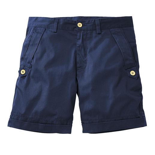 Versace Twill-Shorts - So edel können kurze Hosen sein: Versace Twill-Shorts mit maritimem Chic.