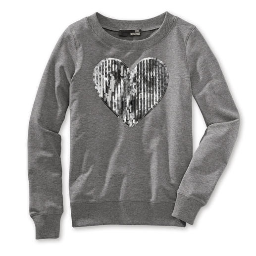 Love Moschino Herz-Sweatshirt Modisches Statement: Herz-Sweatshirt von Love Moschino.