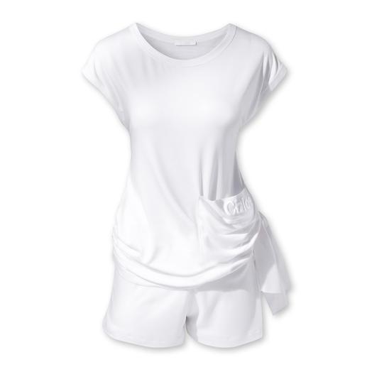 Chloé Beach-Shirt oder -Shorts - Wohlfühl-Stoff in Weiß: angesagter Clean-Chic à la Chloé.